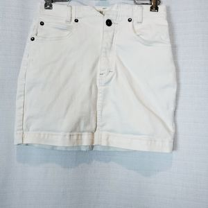 Free People | Off White Jean Skirt 26 / 2